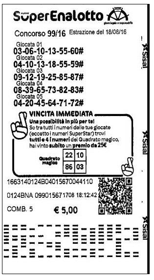 Ticket Belge SuperEnalotto