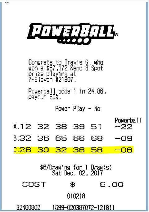 Ticket Powerball
