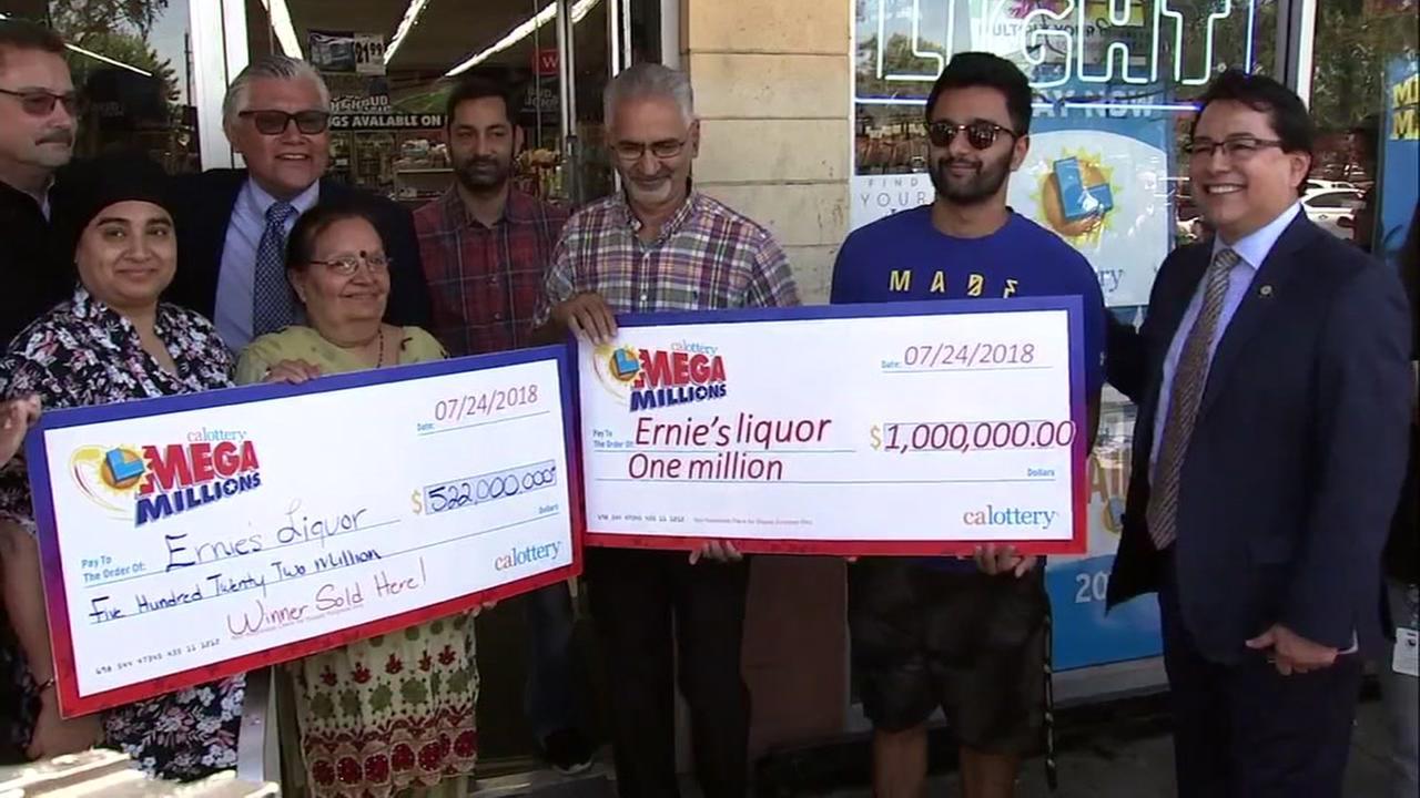 Enrie's Liquor, gagnants Mega Millions