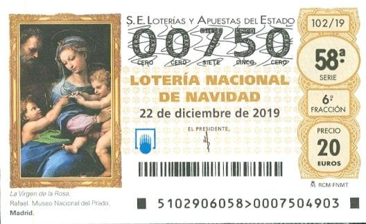 Winning Loteria de Navidad ticket